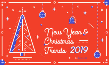 Christmas And New Year Graphic Design Trends 2019