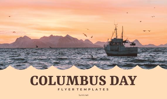 Top Columbus Day Design Templates & Promotional Columbus Day Flyers