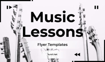 Best Music Lesson Flyer Designs & Free Music Lesson Flyer Templates