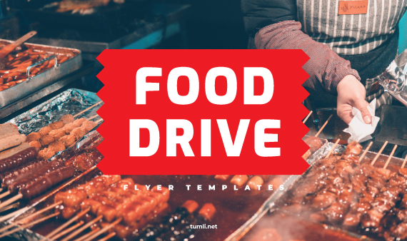 Free Food Drive Flyer Designs & Best Food Drive Poster Templates