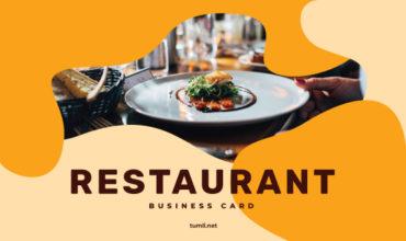 Best Restaurant Business Card Templates & Restaurant Business Card Designs