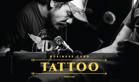 Best Tattoo Business Card Templates & Tattoo Business Card Designs