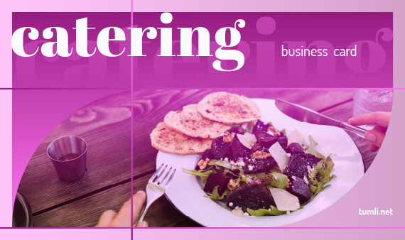 Best Catering Business Card Templates & Catering Business Card Designs