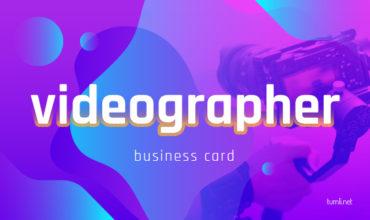 Best Videographer Business Card Templates & Videographer Business Card Design