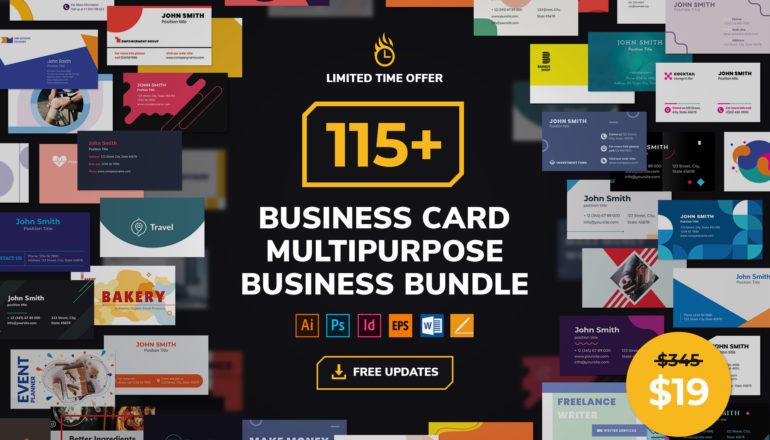 Business Card Templates Multipurpose Business Bundle