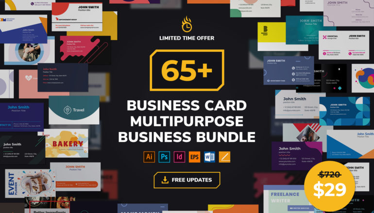 Business Card Templates Multipurpose Business Bundle
