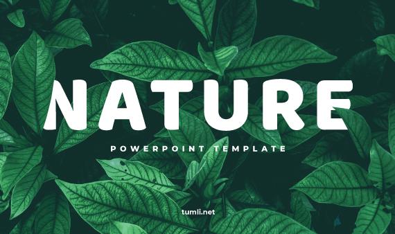 Free Nature Powerpoint Templates Design Tumli