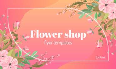 Florists & Delivery Service Flyer Templates